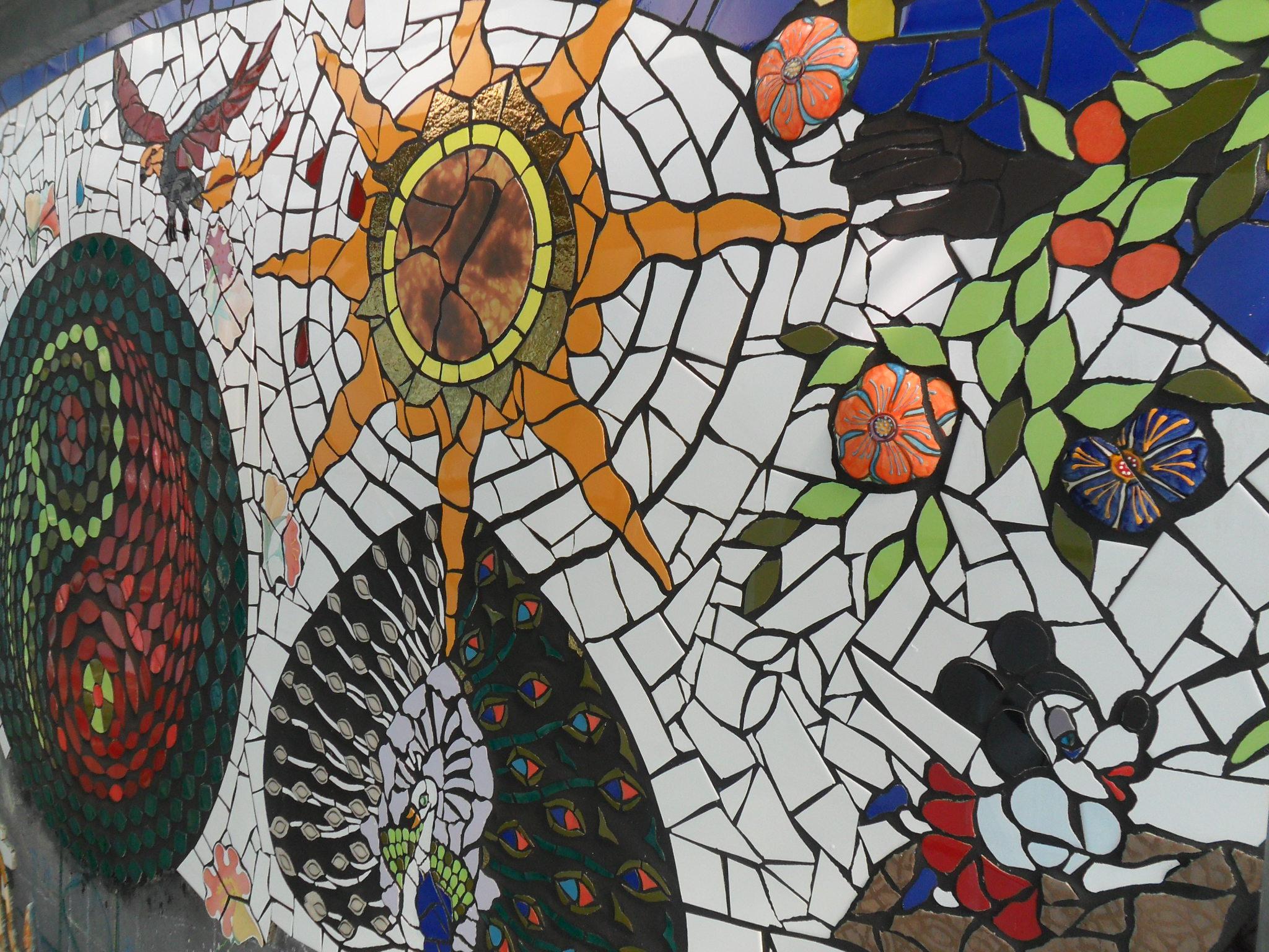 Mosaico muro boiserie in ceramica per bagno - Mosaico bagno economico ...