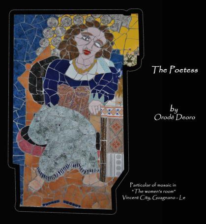La Poetessa. Mosaico di Orodè Deoro